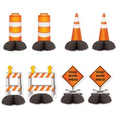 Construction Party Cone Centrepieces (Pack of 8)