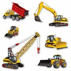 Construction Vehicle Cutout Decorations (Pack of 4)