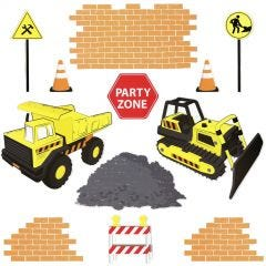 Construction Truck Party Cutout Decorations (Pack of 12)