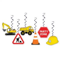 Construction Zone Dangling Decorations (Pack of 5)