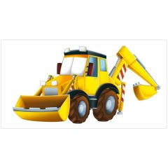 Construction Truck Large Fabric Wall Backdrop