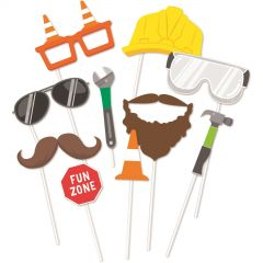 Construction Photo Booth Props (Pack of 10)