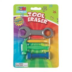 Construction Tool Erasers (Set of 4) - Package