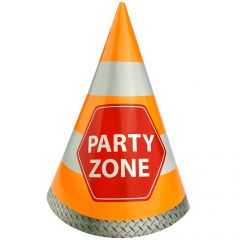 Construction Traffic Cone Hats (Pack of 8)