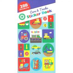 Trucks Planes and Trains Sticker Book (9 Sheets)