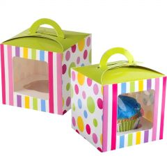 Candy Party Cupcake Boxes (Pack of 12)