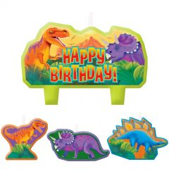 Dinosaur Prehistoric Party Candles (Set of 4)