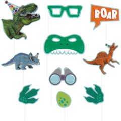 Dinosaur Fun Photo Booth Props (Pack of 10)