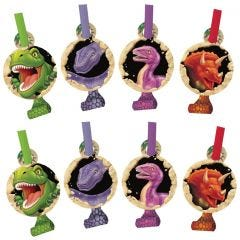 Dino Blast Party Blowers (Pack of 8)