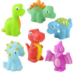 Pack of 12 Assorted Coloured Squirting Dinosaur Toys