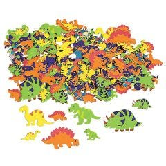 Assorted Dinosaur Shaped Foam Stickers (Pack of 500)