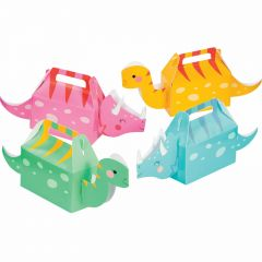 Dino Party Girl Lolly / Treat Boxes (Pack of 4)