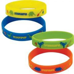 Prehistoric Party Rubber Wristbands (Pack of 4)