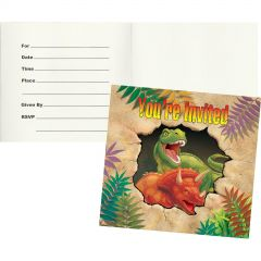 Dino Blast Party Invitations (Pack of 8)