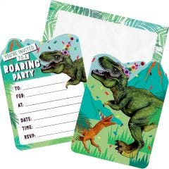 Dinosaur Fun Party Invitations (Pack of 8)