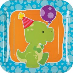 Little Dino Large Paper Plates (Pack of 8)