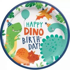 Dino-Mite Large Paper Plates (Pack of 8)