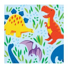Little Dino Small Napkins / Serviettes (Pack of 16)