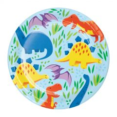 Little Dino Small Paper Plates (Pack of 8)