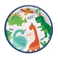 Dino-Mite Small Paper Plates (Pack of 8)