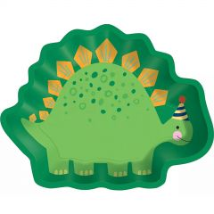 Dino-Mite Shaped Small Paper Plates (Pack of 8)