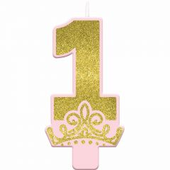 Disney Princess Once Upon A Time 1st Birthday Candle
