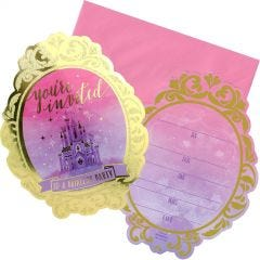 Disney Princess Once Upon a Time Party Invitations (Pack of 8)