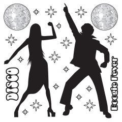 Disco Scene Setter Wall Decorations (22 Pieces)