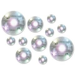 Disco Ball Cutout Decorations (Pack of 20)