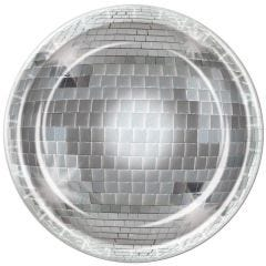 Disco Ball Large Paper Plates (Pack of 8)