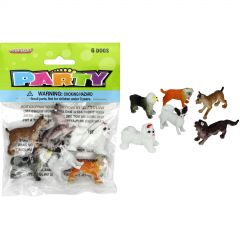Plastic Dogs (Pack of 6)
