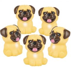 Rubber Pug Toys (Pack of 12)