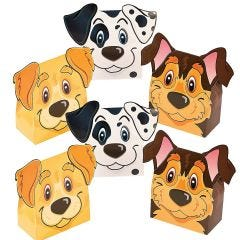 Puppy Party Lolly/Treat Boxes (Pack of 6)