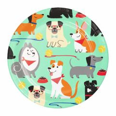 Puppy Party Large Paper Plates (Pack of 8)