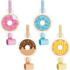 Donut Time Party Blowers (Pack of 8)