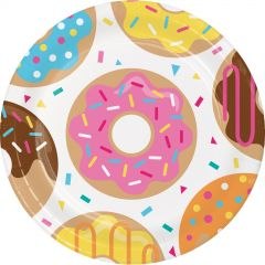 Donut Time Large Paper Plates (Pack of 8)