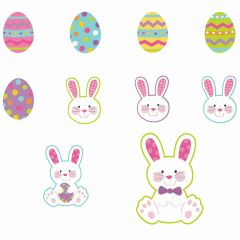 Glitter Easter Cutouts (Pack of 10)