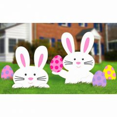 Easter Bunny and Egg Yard Signs (Pack of 5)