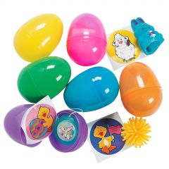 Bright Toy Filled Plastic Eggs (Pack of 24)