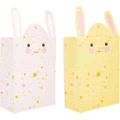 Pastel Pink & Yellow Bunny Paper Favour Bags (Pack of 10)