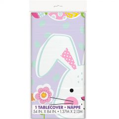 Lilac Easter Plastic Tablecloth