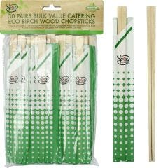Eco Wooden Chopsticks (Pack of 30 Pairs)