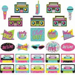 Awesome 80's Cutout Decorations (Pack of 30)