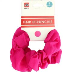 Hot Pink Hair Scrunchies (Pack of 2)