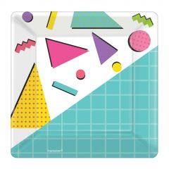 Awesome 80's Small Paper Plates (Pack of 8)