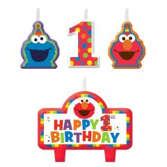Elmo Turns One Candles (Set of 4)