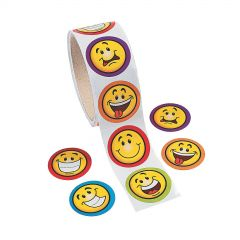 Smiley Face Stickers (Roll of 100)