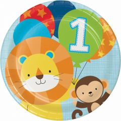 One Wild Boy Large Paper Plates (Pack of 8)