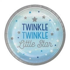 One Little Star Boy Small Paper Plates (Pack of 8)