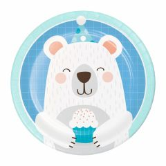 One Little Star Boy Large Paper Plates (Pack of 8)